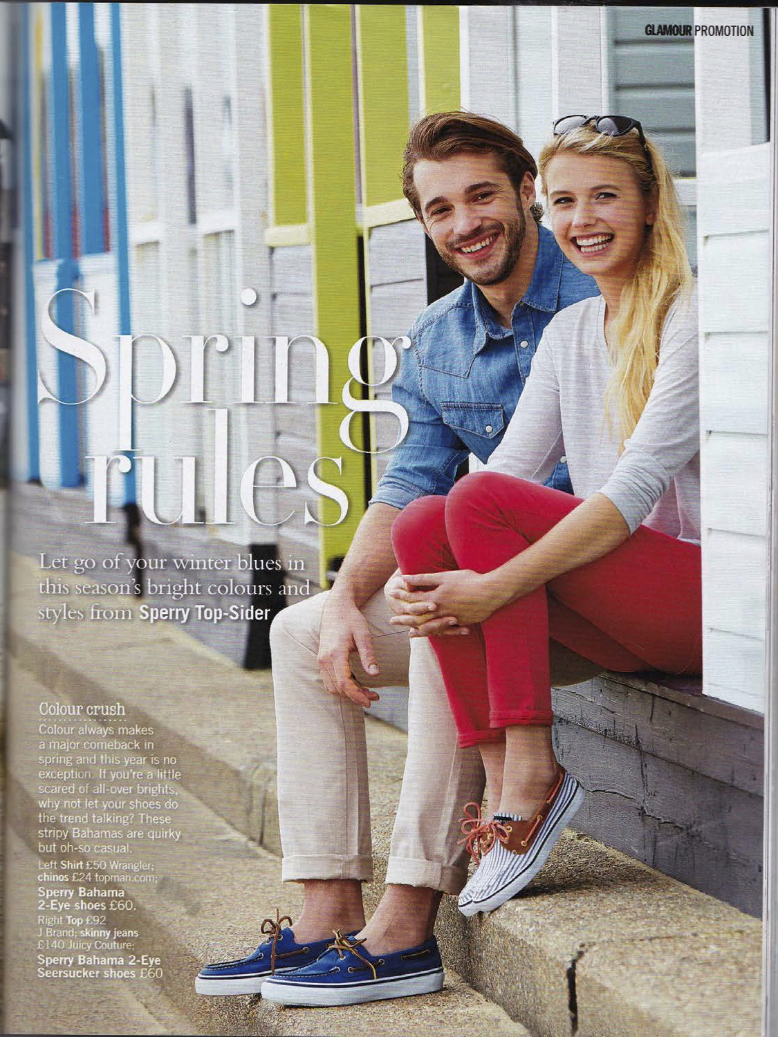 SPERRY and The Yacht Week partnership in Glamour Magazine