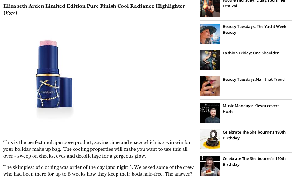 Elizabeth Arden Limited Edition Pure Finish Cool Radiance Highlighter