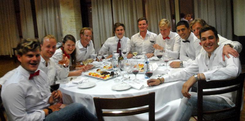 yacht week skipper dinner