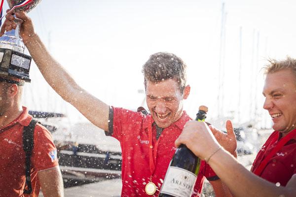 yacht week skipper champagne